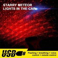 Carro atmosfera ambiente Star Light colorido da música Som lâmpada remota Spotlight Controle Voice Control LED Luz USB plug Para Carro Inte 2blB #
