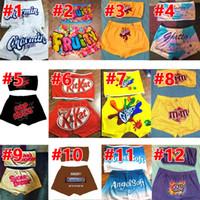 mujeres del diseñador chándal para mujer de verano pantalones cortos de dibujos animados conjunto patrón impreso atractivo pantalones pecho wrappedyoga conjunto S-XXL de DHL