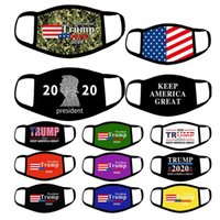15 styles Trump Face Mask 2020 American Election Dustproof Camouflage Protective masks US Flag Mask YYA237 120pcs