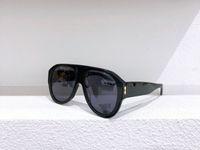 Nuovo modo 0668 occhiali lente collegato dimensione grande cornice ovale con piccola maschera ribattini 0668S occhiali da sole occhiali popolare superiore
