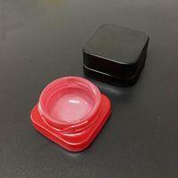 recipiente 5 ml Cube jar Non-Stick Criança Proof Wax Dabs Concentrados Transparente Preto Vermelho Branco Amarelo Verde