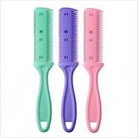 Cabelo Navalha Comb Handle Navalha de corte de cabelo Emagrecimento Comb Início DIY Trimmer com escova de cabelo Lâmina Trimmin Salon LJJP16