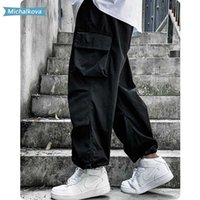 femmes / Tactics Streetwear Jogger pour hommes Pantalons Cargo Mode Hip Hop solides Pantalons Couleur Mens Sweat Pants Michalkova