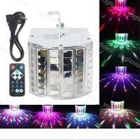 LED Etkileri 9 W LED Lazer Flaş Disco Çift Kelebek Işık Mini Derby Kulübü Partisi Led Efekt DMX512 Sahne Lambası KTV Disco Işıklar DHL