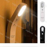 Feux détecteur de mouvement Led Night Light Applique murale rechargeable 6LED noir corps blanc pour salle de bain Couloir Armoire Chambre Salon EUB