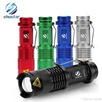 Shustar colorato impermeabile LED Torcia elettrica ad alta potenza 2000LM Mini Spot Lamp 3 Modelli Zoomable Attrezzatura da campeggio Torcia Flash Light