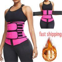 Envío de los EEUU !!! En la talladora del cuerpo de la correa del abrigo de la cintura del corsé de Cincher entrenador de fitness Sweat correa de la faja fajas