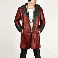 Mens Automotive Leather Jackets Primavera Plus Size 3XL Avirex Leather Jackets com capuz Trench Coats For Men Streetwear