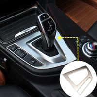Para BMW Serie 3 Serie 4 F30 F31 F32 F34 Interior Consola cambio de engranaje de la caja del panel Ajuste de la cubierta 2013-2018 1pcs