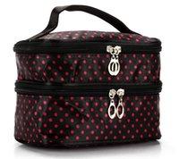 Hot Designer Handbag 2020 Fashion Explosion Model Wavelet Double Layer Small Dot Cosmetic Bag