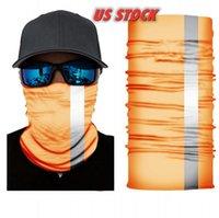 ABD Stok reflectiv Sihirli Turban bandanas 50cm Yüz Maskeleri İskelet Açık Floresan Eşarplar Kafa Bisiklet Motosiklet Wrap FY7138