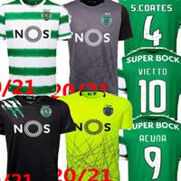 2021 Sporting Lisbon C.Fronaldo B.Fernandes 홈 멀리 Mens Soccer Jerseys S.Coates 스포츠 Lissabon 축구 셔츠 Camiseta de Fútbol 20 21