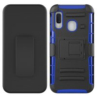 For Alcatel3V 5032W TCL A2 A501DL 1X Evolve A30 fierce Tetra 3 in 1 Stand Holster Combo Case with Swivel Spring Belt Clip Protective Case
