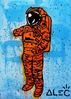 Alec Monopoly Graffiti art Astronaut Home Decor Handpainted ...