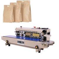 CE Sürekli Sealer Kapama Makinesi Film Impulse Sealer Plastik Poşet Tok PressCoder Bant Gıda Bant Seale Expanded
