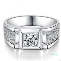 luxo- Yknrbph de Moda de Nova S925 Sterling Silver Diamond Ring Domineering E Jóia Y19051602 Anel Belas Men originais do casamento