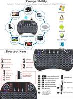 Mini i8 Wireless Keyboard backlight 2.4G Air Mouse teclado remoto bateria de lítio Controle Touchpad recarregável para Android quente
