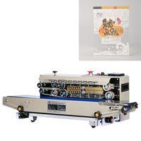 Bolsa de plástico sellador comercial paquete de la máquina de la banda continua de película sellador horizontal Calefacción sellado máquina de embalaje 220V