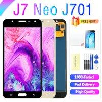 Samsung Galaxy J7 Neo LCD Ekran J701 J701F J701M J701MT Dokunmatik Ekran Montaj Yedek Parçaları 5.5 inç