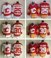 Vintage CCM Calgary Flames Jarome Iginla 12 personnalisés Hockey Cousu 2 Al MacInnis 25 Joe Nieuwendyk 30 Mike Vernon 39 Doug Gilmour Maillots