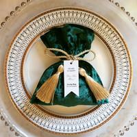 Envoltório Presente Rosa / Vermelho / Verde Veludo Caixa de Doces Festa de Aniversário Fontes Favor Do Casamento Bolo Doce Sacos