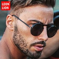 LeonLion 2020 punk do vapor Sunglasses Men Moda 2020 batida Rua Rodada Óculos Outdoor Feminino UV400