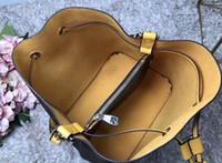 2020 إمرأة نمط دلو حقيبة العليا PU حقائب الكتف حقيبة التصميم الكلاسيكي CROSSBODY NEONOE سيدة حقائب حقيبة الغبار