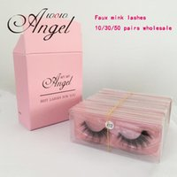Faux Mink Lashes Natural Fluffy False Eye Lashes beleza Extensão Make Up Tools Cílios Package 10/30/50 Pairs Atacado