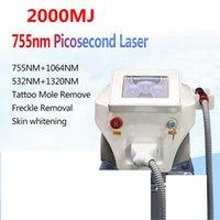 La eliminación ND Yag láser máquina de la belleza Pico / Picosegundo tatuaje del laser 2000MJ pantalla táctil 2000w pigmentación de 755 nm a 1.320 nm 1064 nm 532nm