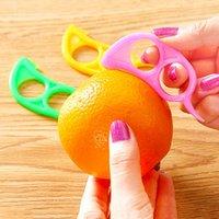 الجلد الماوس الشكل الليمون البرتقال الحمضيات فتاحة القشارة مزيل القاطع القطاعة بسرعة تجريد أداة مطبخ الفاكهة مزيل سكين DBC BH3880