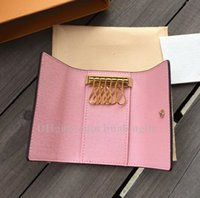 도매 품질 키 홀더 가방 지갑 원래 상자 케이스 버클 체인 여성 남성 클래식 패션