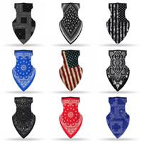 Reutilizable cuello polaina protectora de la cara Máscara nosotros Flag magia bufanda principal Ventilación pañuelo del oído que cuelga de alta calidad de la flor 5 2yj D2