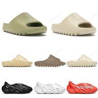 2020 kanye west Terlik Bay Bayan Slide Kemik Toprak Kahverengi Çölde Kum Slayt Reçine erkek eğitmen Sandalet Runner boyutu 36-45