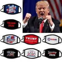 DHL 2020 Trump президентской избирательной кампании дизайнер маска для лица мужчины повторно используемым черные маски для лица Trump печати Защитный пыле рот маски