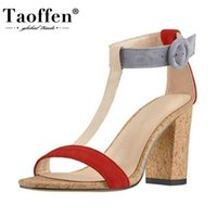 Taoffen New Fashion Shoes Sandals Open Toe T- Strap Buckle Ch...