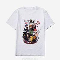 T-shirts Hommes 2021 Mode Anime Akatsuki Naruto Mens T-shirts Été Cool Hipster Harajuku Hip Hop T-shirt Hommes