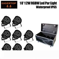 Flight Case 8in1 Packing 18x12W RGBW 4IN1 Waterproof Aluminum Casting Led Par Light IP65 Good Heat Dissipation No Work Noise TP-P104