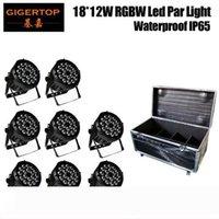 Led Par Işık IP65 İyi Isı Dağıtımı Yok Çalışma Gürültü TP-P104 Döküm Uçuş Vaka 8in1 Ambalaj 18x12W RGBW 4IN1 Su geçirmez alüminyum