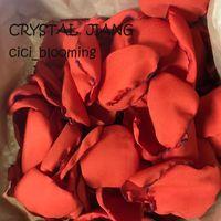 Оранжевый цвет лепестков роз для свадьбы Soft Flower Girl Rose Petal 100 частей / серия