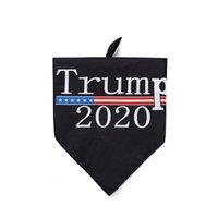 Pet Speichel-Tuch 2020 New American Election Trump Beidseitige Pet Dreieck Schal Hund Speichel-Tuch Pet Supplies 8 Styles