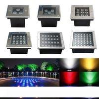 Deck interrata all'ingrosso della metropolitana LED Sqaure 3W 4W 5W 6W 9W 12W 16W 24W 36W IP67 110-240V LED outdoor lampada di paesaggio Luci da giardino