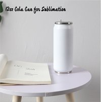 DIY Sublimation 12oz Cola Can with 2 Types Lids 380ML White ...
