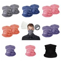 11Style Cycling Mask Seamless Magic Scarf Bandanas Outdoor Head Scarve Neck Wrap Neck Gaiter with PM 2.5 Filter Designer Masks GGA3552-11