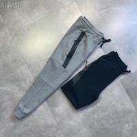 Пространство мужчин хлопка дизайнер летние брюки классических спортивных трениках мужские брюки Ламинированные молния дизайн Материал верха фитнес бегуны брюки