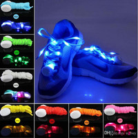 7 Farben-LED-Lampe Flashing Schnürsenkel LED Schnürsenkel Luminous Schnürsenkel Light Up Blitz Glühend shoeslace