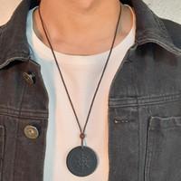 DHL Лава камень ожерелье Скалярные здоровья квант энергии Подвеска с отрицательным ионом Энергия Природный камень кулон Черный ювелирные изделия Negative