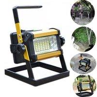 36 LED recarregável portátil ao ar livre Camping Flood Spot Light Trabalho Lâmpada Camping Pesca Lâmpada Monden New aDropshipping