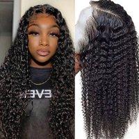 Hair Master 4 * 4 tiefe Wellen-Spitze-Front-Menschenhaar-Perücken Peruque Femme Naturel 26-28 Zoll brasilianische Remy für schwarze Frauen