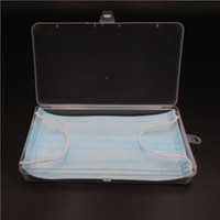 Rectangular transparent mask box plastic storage case mobile...