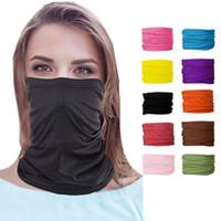 25 цветов Мода Бандан Face Mask Спорт на открытом воздух головной повязка Тюрбан браслет платок шея Gaiter Волшебных шарфы Велоспорт банданы CYZ2546